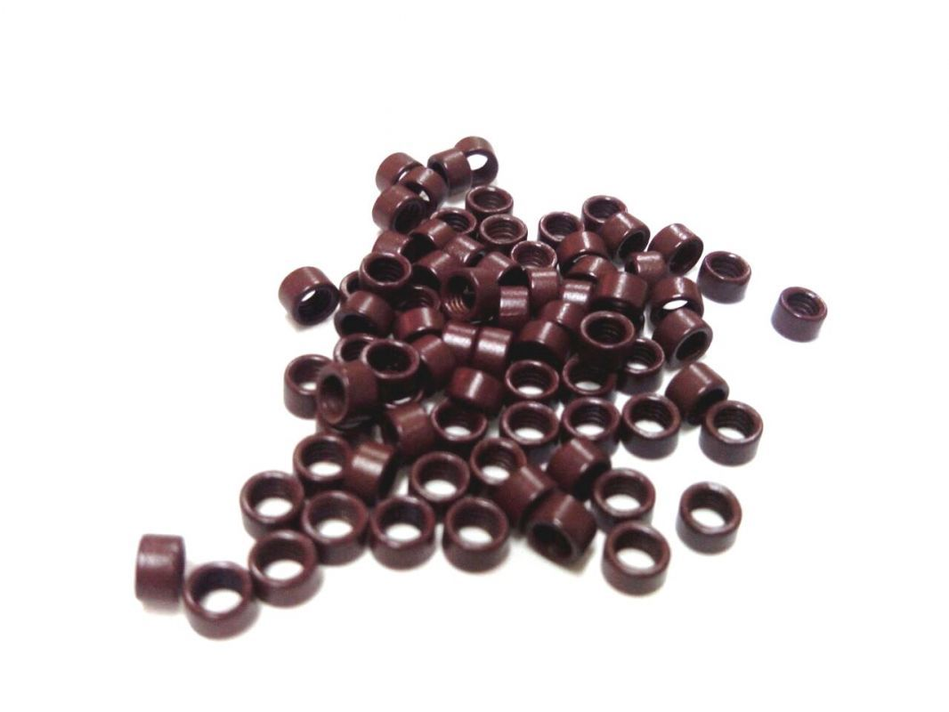 Micro ring 4mm, hnědá, na prodlužování vlasů VEHEN s.r.o.